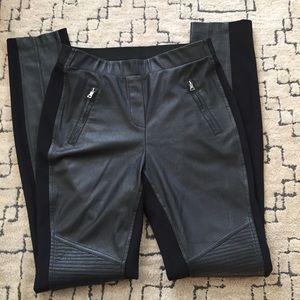 BCBG Faux Leather Pants
